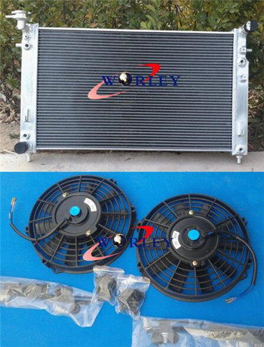 Aluminum Radiator + Fans for COMMODORE VT-VX Supercharged 3 8L V6 L67 40mm  2Row Manual Only